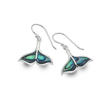 Sterling Silver Earrings - Origins Whales Tail + Paua