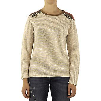 Custo Barcelona Women Sweater Bam Bis Beige