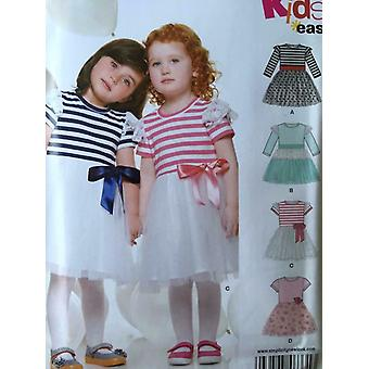 New Look Sewing Pattern 6331 0719 Girls Childs Toddler Dress Size 1/2-4 Uncut