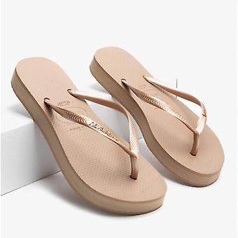 Havaianas Hav Slim Flatform Ladies Flip Flops Rose Gold