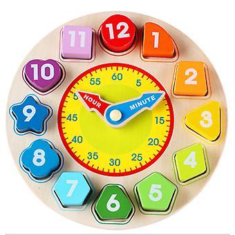 لون خشبي الرقمية ساعة التعلم المعرفي المنبه التعليمية الأطفال & ق لعبة