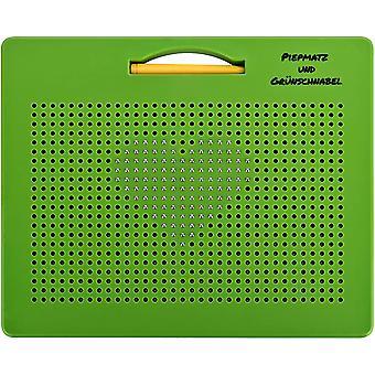 HanFei magnetische Zeichentafel, Magnetspiel mit Kugeln und Stift, pdagogisches Spiel ab 3 Jahre, grn