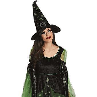 أسود الساحرات قبعة المرأة هالوين يتوهم اللباس زي التبعي