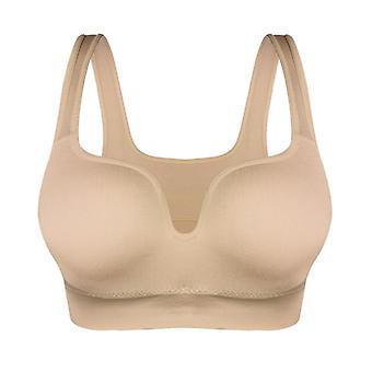 Women Sport Bras Yoga Shirt Fitness Running Vest Crop Sports Workout Top Wireless Push Up Brassiere