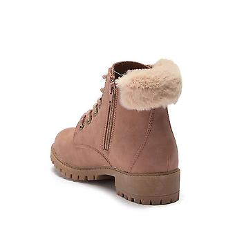 Madden Girl Womens Frannkie Faux Fur Closed Toe Ankle Fashion Boots