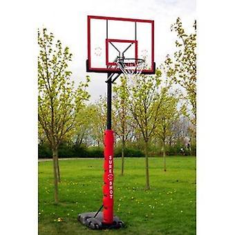 بالتأكيد اطلاق النار على كرة السلة وحدة محمولة سريعة مع اللوح الخلفي الاكريليك والحشو القطب