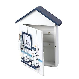 Mediterranean House Key Storage Holder Case Wall Mounted Box
