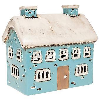 Joe Davies Village Pottery suuri talo keraaminen teevalo kynttilänjalka