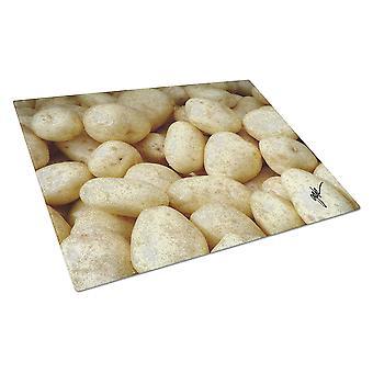 Carolines Treasures  GAK1021LCB Potatoes by Gary Kwiatek Glass Cutting Board Lar