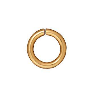 TierraCast 22K Gold Plated Brass Open Jump Rings 7.7mm 16 Gauge (25)