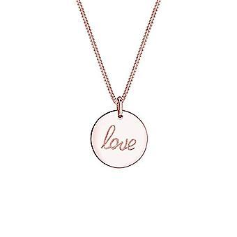 Colier Elli Femeie Love Litere Pandantiv de bază pandantiv în Sterling Silver 925