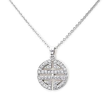 Eye Candy - Necklace for women, collier Symbol, silver Sterling 925 rhodium, with 50 white zircons, 45 cm - ECJ-NL0026