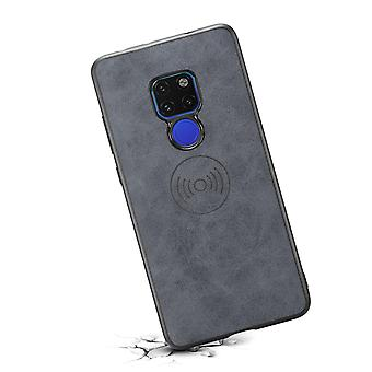 Leather case with wallet card slot for Samsung S10e retro gray
