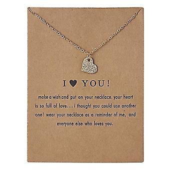 Te amo collar m corazón 18K oro chapado regalo te amo