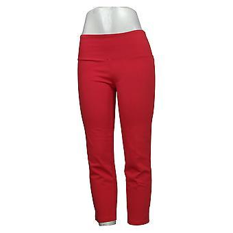 Kvinder med kontrol XXS Tummy Kontrol Prime Stretch Crop Jeans Rød A306449
