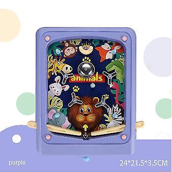 Lila kreative Kinder Flipper Spiel Cartoon Handheld Spiel Maschine Labyrinth Auswurf Spiel Maschine az4448
