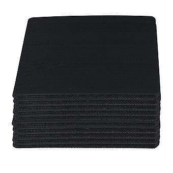 Für 100pcs Cuttable Schwarz PVC PC Fan Staub Filter staubdicht Fall Computer Mesh 120mm WS1062