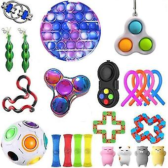 For 23pcs Pack Sensory Toy Set Antistress Relief Fidget Toys WS44714