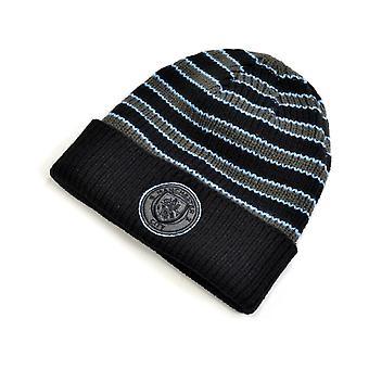 Man City Mass Blackball Knit Cuff Hat Charcoal Striped