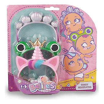 Dolls Accessories The Bellies Crazy Headbands Famosa (pack of 3)