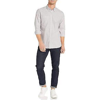 Märke - Goodthreads Mäns Standard-Fit Långärmad Rynkbeständig Comfort Stretch Oxford Shirt med enkel vård
