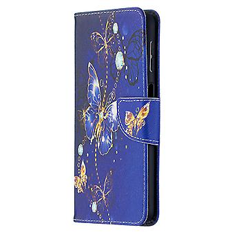 Samsung Galaxy A32 4g Case Pattern Magnetic Protective Cover Purple Butterfly