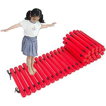 Taktiler Balance Path Board Kindergarten Balance Trail (Rot)