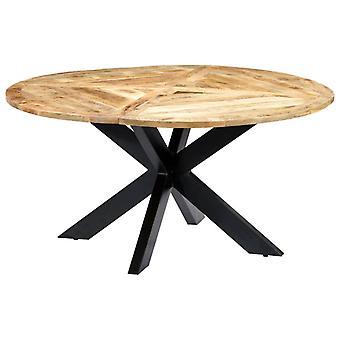 vidaXL مائدة الطعام الجولة 150×76 سم خشب المانجو الصلبة