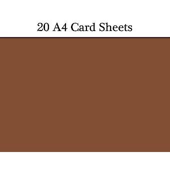 20 ruskea A4 käyntikorttiarkkeja käsitöitä | Värillinen kortti käsityöt