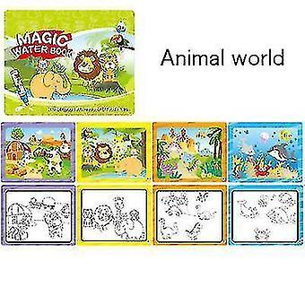 Livre d'images réutilisable pour enfants Graffiti Water Painting Book (Animal)