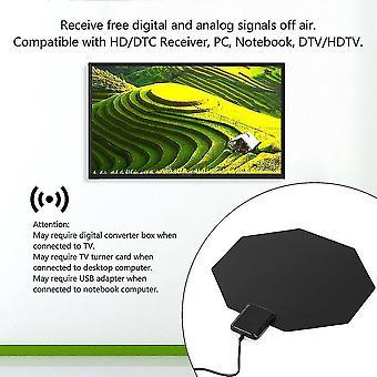 Long Range Amplified Uhf Digital Analog Home Flat Indoor Tv Hdtv Aerial