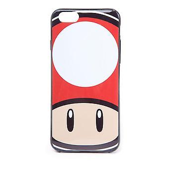 Super Mario Bros. Toad Mushroom Face Phone Cover für Apple iPhone 6