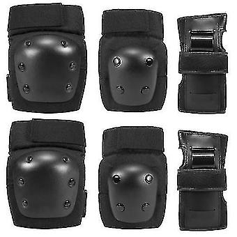 Exercise machine equipment sets 6 in 1 kids/adults knee pads elbow pads wrist pads sport protective gear set