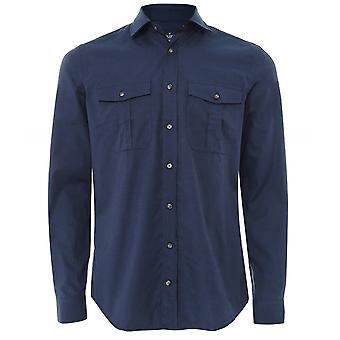 Hackett Slim Fit Cotton Wool Utility Shirt