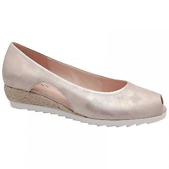 Gabor Peep Toe Low Wedge Court Shoe