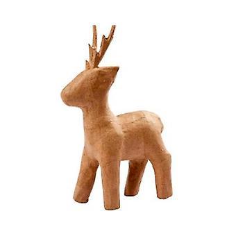 22.5cm Papel Mache Rudolph Reno para Decorar para Navidad