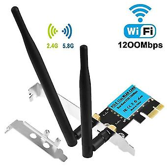 Network cables 2.4G/5g dual band 1200mbps pci-e wireless wifi car network adapter for desktop