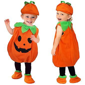 Halloween puku pojat ja tytöt cosplay puku näyttää lasten kurpitsa puku