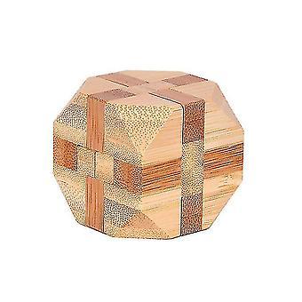 Venalisa Bamboo Kong Ming Lock Toys Classic Iq 3d En bois Imbriqué Burr Puzzles Casse-tête Jeu Jouet Pour