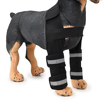 Evago Suport Bar armare-nou Pet dublu față picior Bretele front brace suport carpian cu curele reflectorizante de siguranță pentru față Hock comune, ligament cruciat,