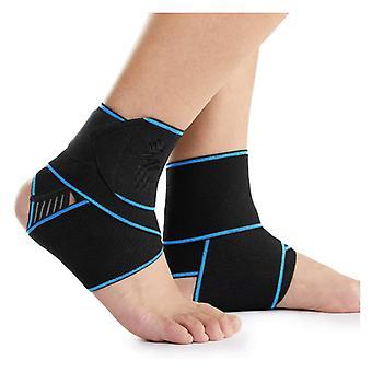 足首サポート2パック - 足首の捻挫、アキレス腱、スポーツ、ランニング用の調節可能な足首ブレースコンプレッションアンクルラップストラップ