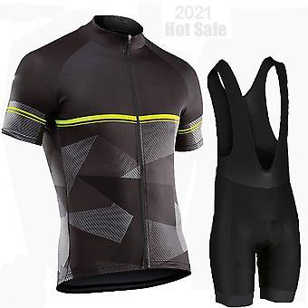 2021 Cykeltrøje Sæt Åndbart cykeltøj Ciclismo Tøj Mænd Style Sommer Kortærmet Triathlon Mountain Bike