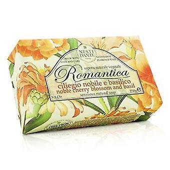 Nesti Dante Romantica sensuale sapone naturale - fiori di ciliegio nobile & basilico - 250g/8.8 oz