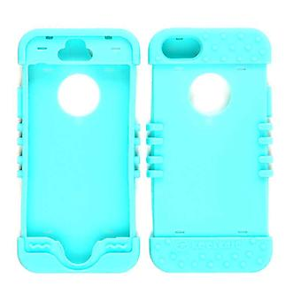 Unlimited Cellular Rocker Series Skin Case for Apple iPhone 5S (Fluorescent Blueish Green)