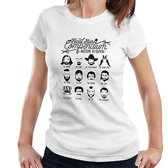 The TV Facial Hair Compendium Women's T-Shirt