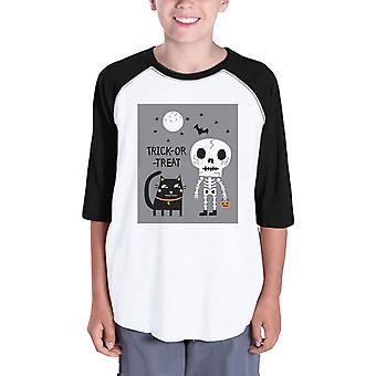 Dolcetto o scherzetto camicia di Baseball per bambini Halloween Costume Tshirt