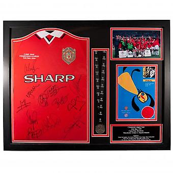 Manchester United 1999 Champions League Final Signed Shirt (Framed)