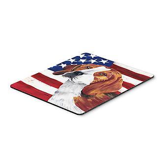 كارولين الكنوز SC9005MP الولايات المتحدة الأمريكية العلم الأمريكي مع لوحة الماوس بيغل، يا وسادة ساخنة