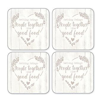 Cooksmart Food for Thought Coasters, Set of 4