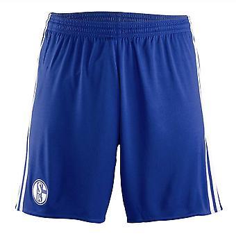 2017-2018 Schalke Adidas Pantaloncini Gara Away (blu)